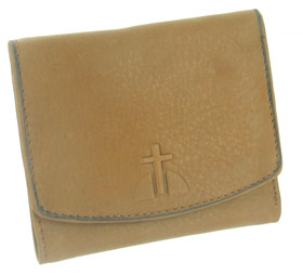 Rolfs Essentials Leather Wallet with Cross - Tan