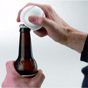 Sports Lover's Talking Baseball Bottle Opener1