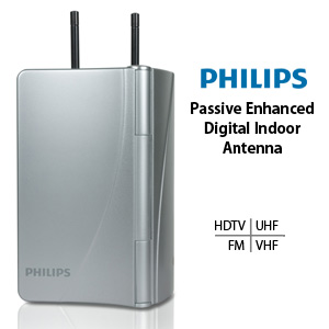 Philips Passive Enhanced Digital Indoor Antenna HDTV/UHF/VHF/FM