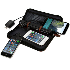 Portable Charging Fold-Out Valet with Sync Cables by Eddie Bauer