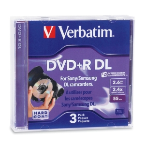 Verbatim 95313 DVD Recordable Media - DVD+R DL - 2.60 GB - 3 Pack Jewel Case