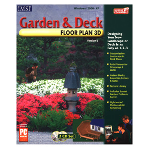 Garden & Deck Floor Plan 3D