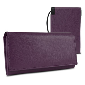 Halo Women's Hack-Proof Power Wallet 3000 w/ RFID Protection (Purple)