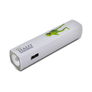 Halo Kermit Pocket Power Starlight 3000mAh Power Bank with Flash Light