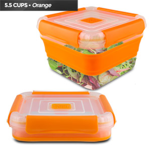 Cool Gear Collapsible Storage Box, 1710 (Orange)