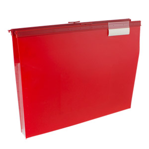 Wilson Jones Slide-Bar File Jacket with CD Holder, Red