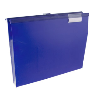 Wilson Jones Slide-Bar File Jacket with CD Holder, Blue