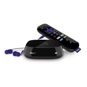 Roku 3 Streaming Media Player (4230R) with Voice Search (No ear Buds) Refurbished