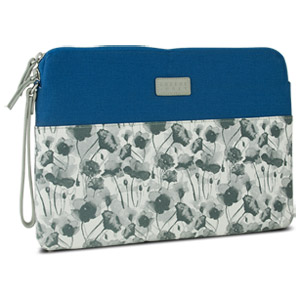Greene + Gray Zippered Sleeve Case for Microsoft Surface Pro, Blue Floral (Open Box)