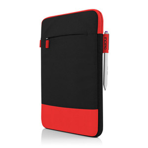 Incipio Asher Nylon Sleeve Case for 11 Tablets/Devices, Red/Black