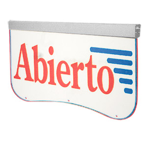 Actiontek Acrylic LED Sign, Abierto