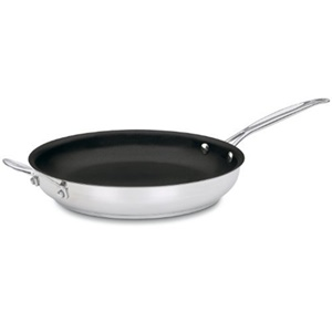 Cuisinart 722-30HNS Chef's Classic Stainless Nonstick 12-Inch Open Skillet