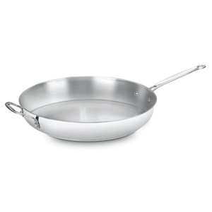 Cuisinart 722-36H Chef's Classic Stainless 14-Inch Open Skillet w/ Helper Handle