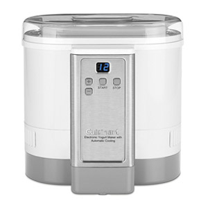 Cuisinart CYM-100 Electronic Yogurt Maker w/Automatic Cooling, White Refurbished