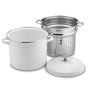 Cuisinart 12 Quart Stockpot With Steamer Insert And Cover - White