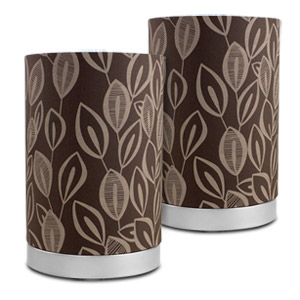 Mainstays Leaf Fabric Uplight Lamp with Light Bulbs (2 Pack)