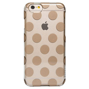 Agent18 SlimShield Case for iPhone 6/6s Plus - Clear/Gold Dots