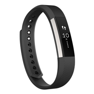 Fitbit Alta Fitness Tracker, Silver/Black, Small
