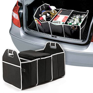 Mighty 3-Compartment Car Trunk Organizer with Cooler Bag