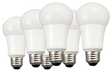 TCP 60W Equivalent A19 Non-Dimmable LED Light Bulb Soft White (6-Pack)