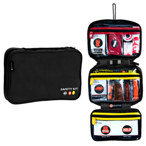 Relief Pod Roadside Safety Kit Pro w/ 56 Items - Black