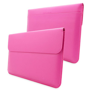Snugg Leather Sleeve for 11 Tablets (Magenta)