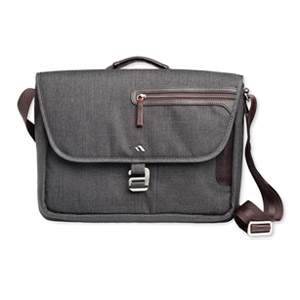 Brenthaven Collins Horizontal Messenger Bag for Microsoft Surface Pro, Graphite, Open Box