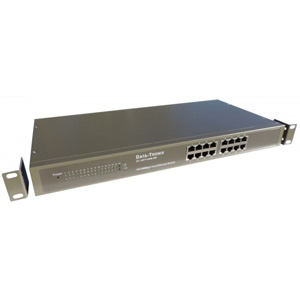Data-Tronix DT-16PT100M-RM 16-Port Rack-Mountable 10/100 Ethernet Switch Refurb