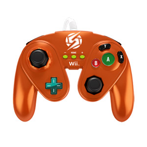 PDP Wired Fight Pad Controller for Nintendo Wii/Wii U - Samus (Metallic Orange)