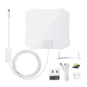 ANTOP Digital TV Antenna 30/45 Mile Range + Built-in Smart Switch Amplifier