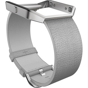 Fitbit Blaze Accessory Band, Leather, Mist Grey, Small