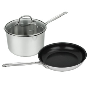Cuisinart 7721-10N3P 3-Piece Chef's Classic Stainless Cookware Set