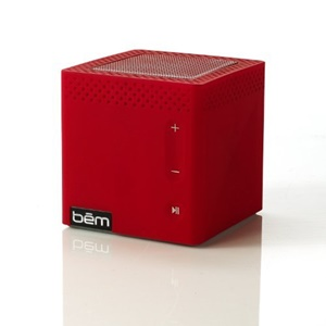 BEM Wireless Bluetooth Mobile Speaker with Touch-Sensitive Buttons - Red