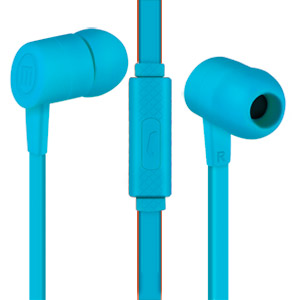 Maxell Solid 2 Earphones with Built-in Microphone, Azure Blue