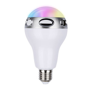 Sunbeats Smart RGB LED Color-Changing Light Bulb and Wireless Bluetooth Speaker