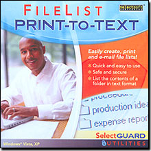 SelectGuard FileList Print-To-Text