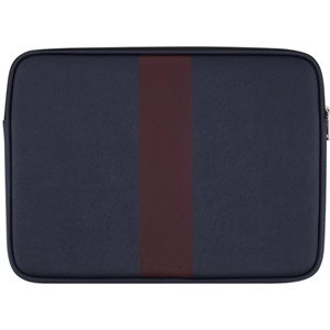 Jack Spade 13 Racing Stripe Sleeve (Navy/Burgundy)