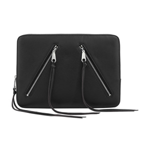 Rebecca Minkoff Moto 13 Sleeve - Black Pebble Leather, Open Box