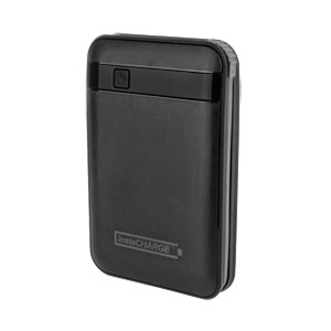 InstaCHARGE 11000mAh Portable Device And Phone Charger - Black