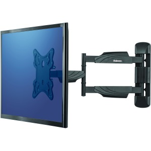Fellowes - Wall mount for TV - black - screen size: up to 55
