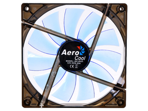 Aerocool Lightning AV14025 14cm 12V DC LED PC Case Cooling Fan - Blue, Open Box