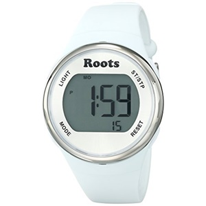 Roots Women's Cayley Digital Display Sport Watch, White