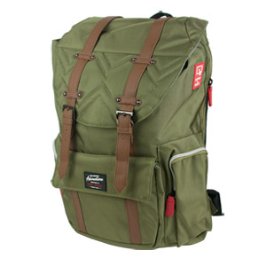 Travelers Club Scout 18 Backpack, Green/Brown