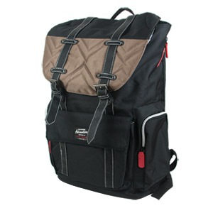 Travelers Club Scout 18 Backpack, Brown/Black