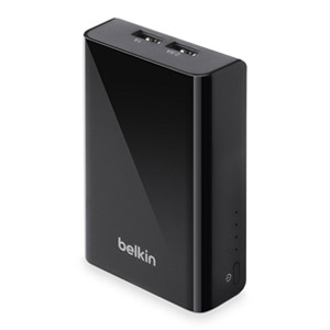 Belkin Travel Power Pack 9000mAh Power Bank w/ 1 Amp and 2.5 Amp Dual USB Ports