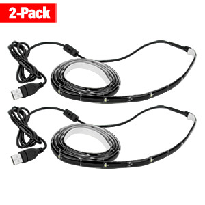Antec Bias Lighting for HDTV with 51.1 Cable (Reduces Eye Fatigue) 2 Pack