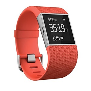 Fitbit Surge Fitness Superwatch GPS Tracking Fitness Tracker Tangerine Large