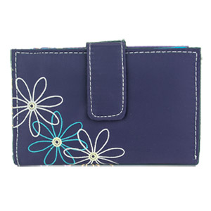Travelon RFID Blocking Daisy Women's Trifold Wallet Purple