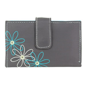 Travelon RFID Blocking Daisy Women's Trifold Wallet Pewter Gray