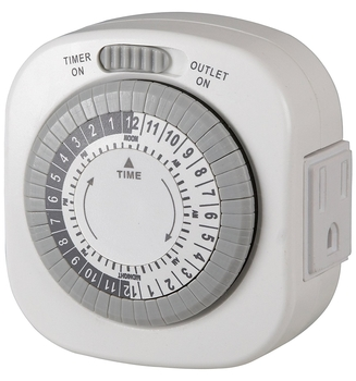 Westek TM1677DHB Mechanical Big Button One-Outlet Indoor Daily Timer